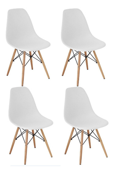 Cadeira Charles Eames Wood Design Kit 04pc Nf + Garantia