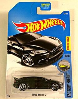 Hot Wheels 2017 - Factory Fresh 6/10 - Tesla Model S Preta