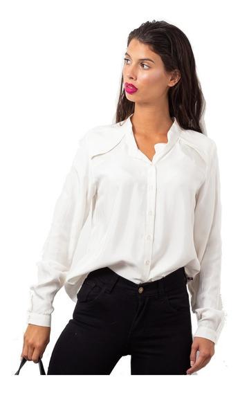 Camisa 100% Viscosa Satinada Mujer Varios Talles 15% Off