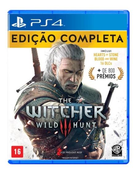 The Witcher 3 Wild Hunt Edição Completa Mídia Física - Ps4
