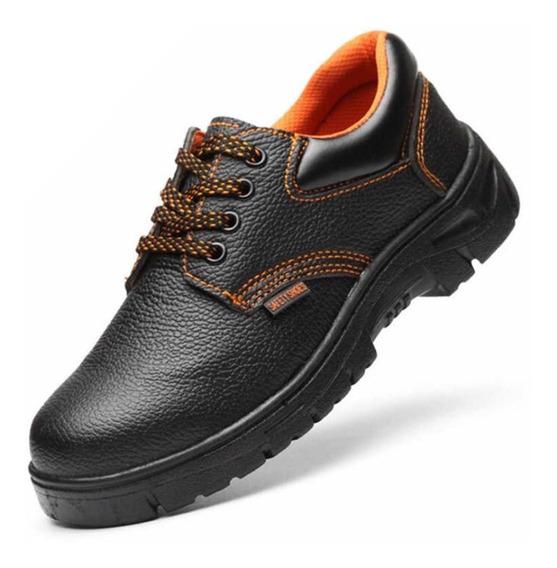 Zapato De Cuero Para Trabajo Con Suela Y Punta De Acero