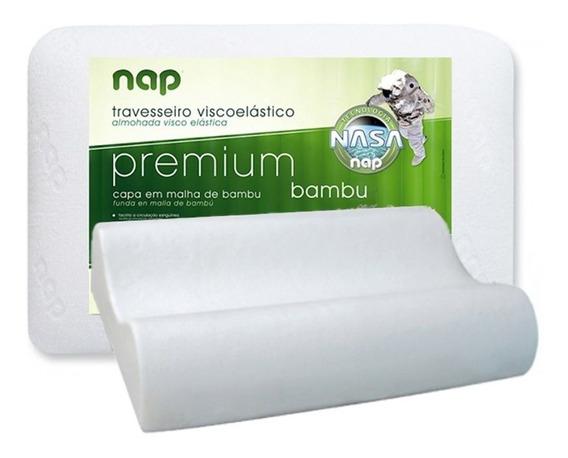 Travesseiro Nasa Cervical Premium Bambu Hipoalergênico Nap