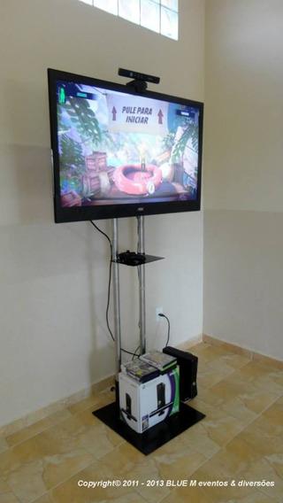 Oportunidade Suporte Tv De Chão (duplo H Inox) Campinas - Sp