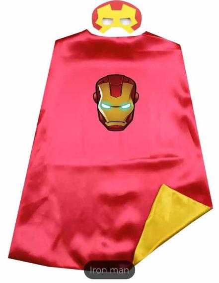 Iron Man Capa Y Máscara Disfraz Marvel Niños
