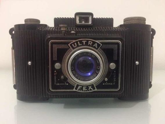 Máquina Fotográfica Antiga Ultra Fex France - Vintage - Rara