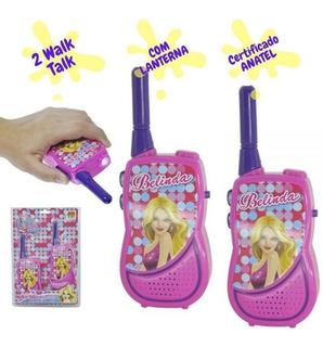 Walkie Talk Infantil Brinquedo Menina Pilha Lanterna Anatel