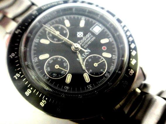 Relógio Chronograph Natan Zodiac Ponto Vermelho