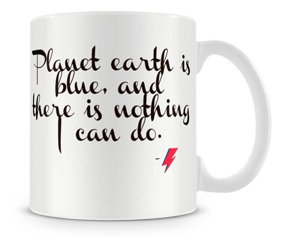 Caneca David Bowie Space Oddity Earth Geek