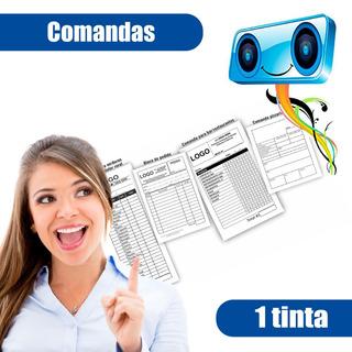 1,000 Comandas 1/4 De Carta Papel Autocopiante (1 Tinta)