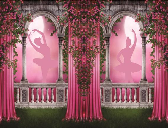 Fundo Fotográfico Em Tecido Arcos De Bailarina 2,80 X 1,50