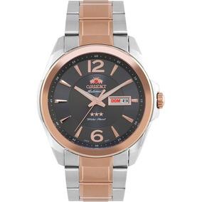 Relógio Orient Masculino Prata + Dourado Analógico 469tt050