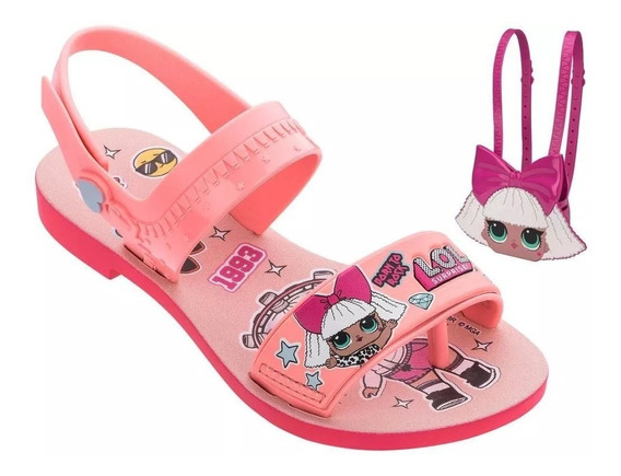 Lol Diva Bag 22117 Sandália Infantil Feminina Bolsa Lol Nova