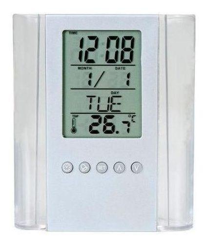 Kit 15 Un Porta-canetas Com Relógio Digital E Temperatura