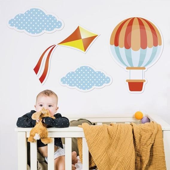 Vinilo Decorativo Habitación Infantil Globo Nube Barrilete