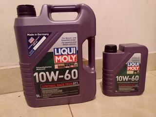 Aceite Liqui Moly 10w60 Synthoil Race Tech Bidon 5lt + 1lt