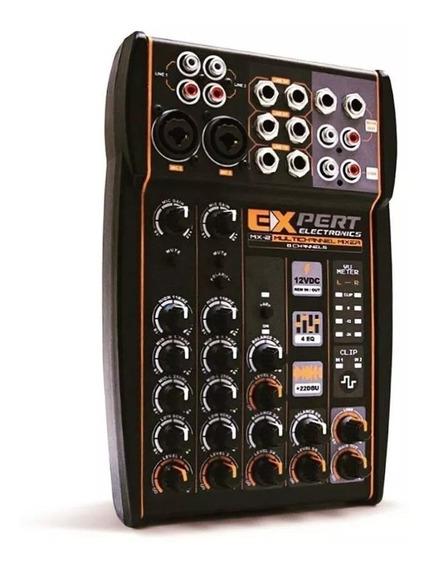 Mesa De Som Automotivo Expert Mx2 12v Stereo Crossover