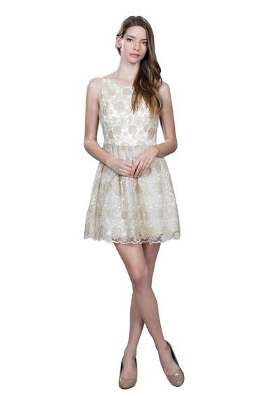 Vestido De Coctel Ark & Co. Con Bordado Floral