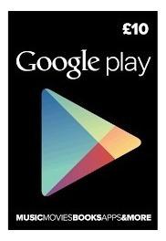 Gift Card Google Play 10$