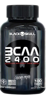 Bcaa 2400 Caveira Preta (100 Tabs) - Black Skull
