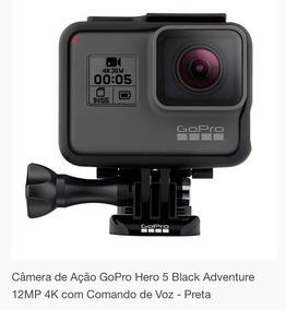 Câmera Gopro Hero 5 Black Adventure 12mp 4k Comando De Voz