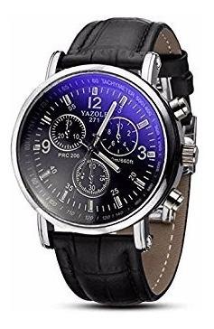 Relógio Social Masculino Yazole 271 Fundo Azul Barato