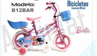 Bicicleta Infantil Rodado 12 Barbie-original