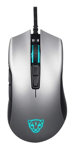 Mouse Gamer Motospeed V70 Cinza 7 Botões 12000 Dpi Rgb Pmw3360 Ic