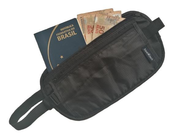 2 Doleiras Bolsa Invisível Pochete Viagem Cinto Porta Dólar