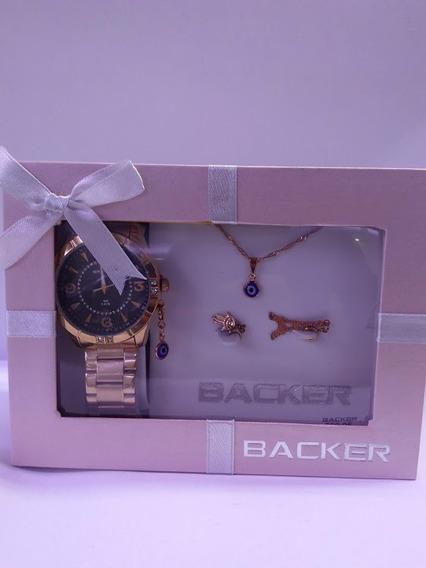Relógio Backer - Kit Olho Grego - 106310058 Pr