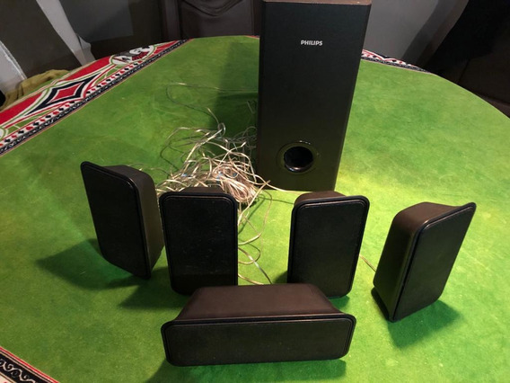 5 Caixas De Som + Subwoofer Home Theater Philips Hts3375