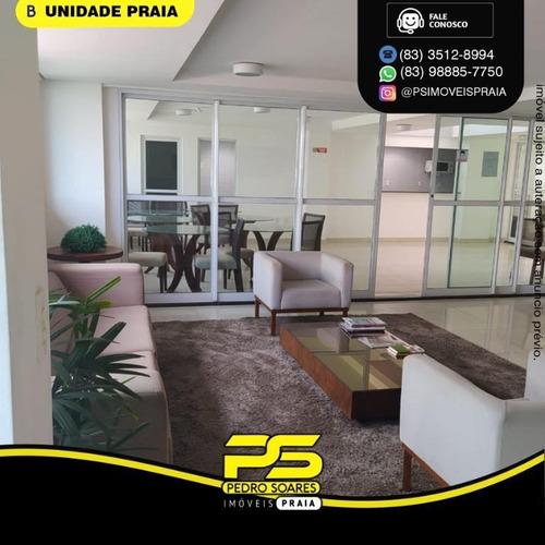 Apartamento Com 1 Dormitório À Venda, 25 M² Por R$ 220.000 - Cabo Branco - João Pessoa/pb - Ap4760