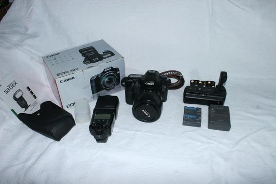 Kit Fotografo Profissional Canon 40d Completo (tudo Canon)