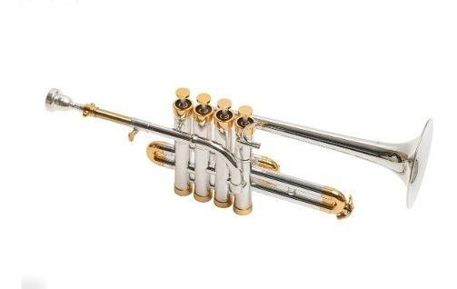 Trompeta Piccolo Custom Parquer Bb 4 Pistones +estuche+boq