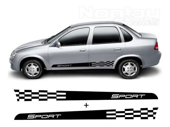 Faixas Laterais Classic Corsa Chevrolet Adesivos Portas Par