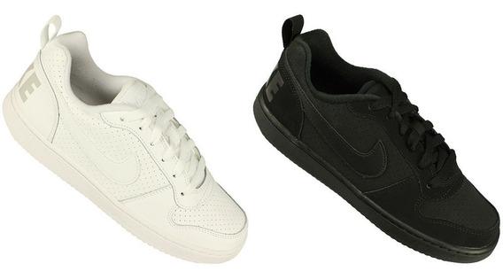 Kit 2 Tênis Juvenil Nike Court Borough Original C/ Nf Oferta