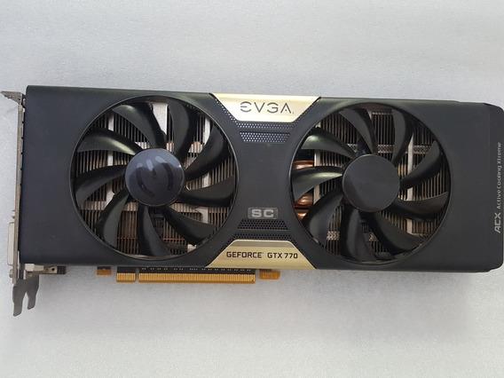 Placa Vídeo Pci Express Geforce Gtx 770 Sc Evga 2gb Ddr5