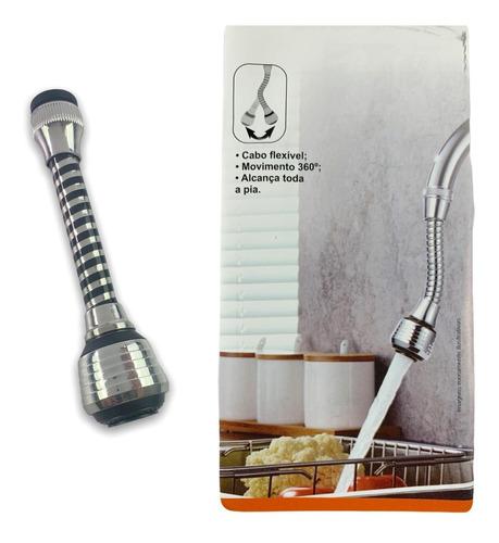 Imagem 1 de 10 de Extensor Torneira 360 Adaptador Flexível Cozinha Banheiro