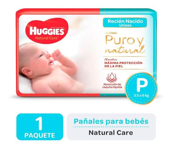 Pañales Huggies Natural Care Talle P Promopack X 50 Unidades