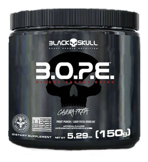 Pré Treino Bope - 150g - Black Skull - Lançamento