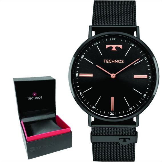 Relógio Technos Slim Unisex Original Nf 2025ltm/4p