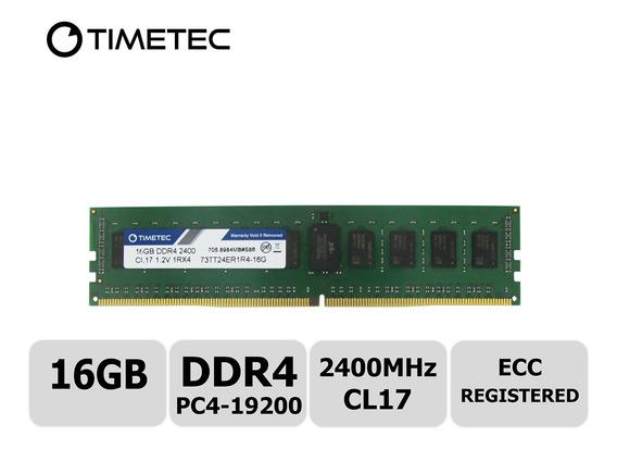 Memoria Ram 16gb Timetec Samsung Ic Ddr4 2400mhz Pc4-19200 Registered Ecc 1.2v Cl17 1rx4 Single Rank 288 Pin Rdimm Serve