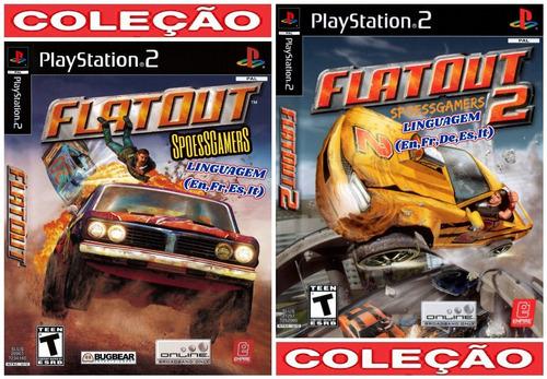 Flatout Ps2 1 E 2 ( Carros ) Coleção (2 Dvds) Patch