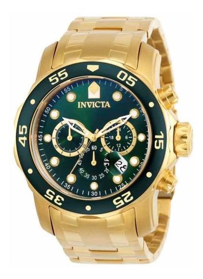 Relógio Invicta Masculino Pro Diver 0075 Verde + Caixa