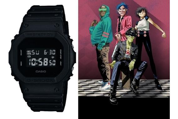 Relógio Casio G-shock Masculino Dw-5600bb-1dr Gorillaz + Nfe