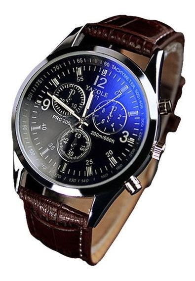 Relógios Masculino Analogico, Social, Azul, Pulseira Couro