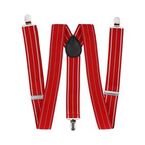 Tirantes Royal Flush Rojo Con Linea Blanco Poliéster