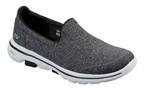 Tênis Skechers Feminino Go Walk 5 - Sock Original Cinza Lind