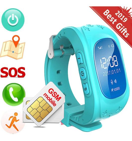 Reloj Smartwatch Niño Gps Azul Localizador Celular Glückluz