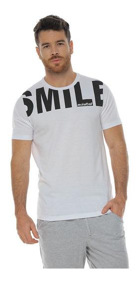 Camiseta Cuello Redondo, Blanco Para Hombre