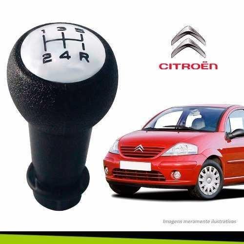 Imagem 1 de 2 de Manopla Bola Cambio Citroen C3 Preto Cromado Modelo Original